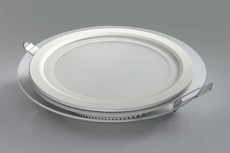 18w Round Glass Panel Led Light With High Quality And Low